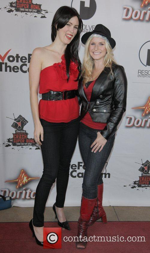 Rochelle Russo, Jenn Gotzon Doritos Crash The Superbowl...