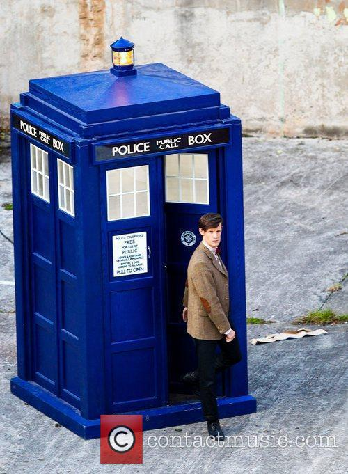 Matt Smith steps out of the Tardis 'Dr...