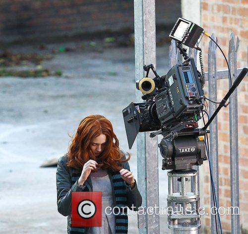 Karen Gillan 'Doctor Who' filming on location in...