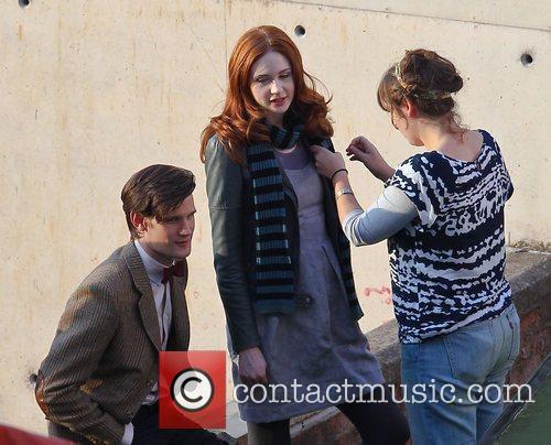 Karen Gillan, Matt Smith 'Doctor Who' filming on...