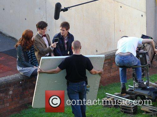 Karen Gillan, Matt Smith and Arthur Darvill 'Doctor...