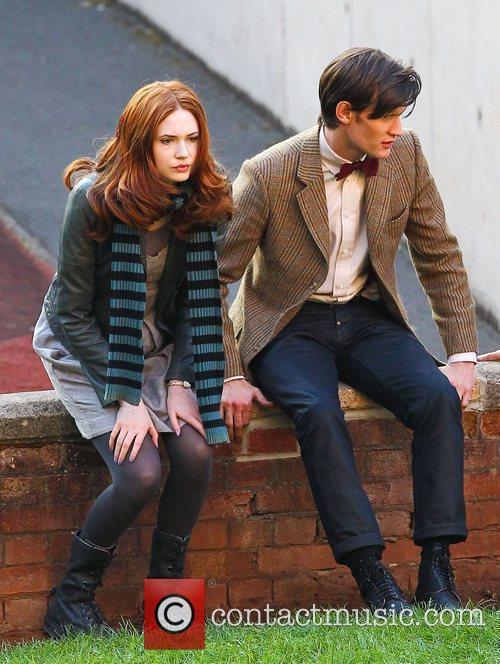 Matt Smith and Karen Gillan 'Doctor Who' filming...