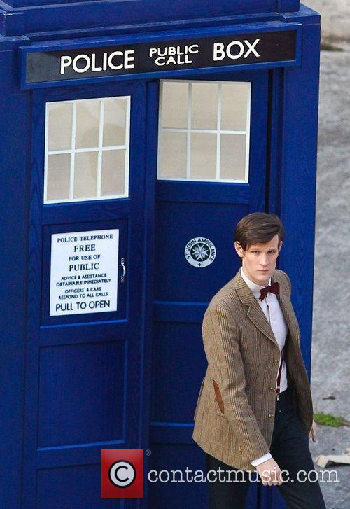 Matt Smith 'Doctor Who' filming on location in...