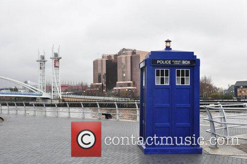 Tardis Photocall for the BBC series 'Doctor Who'...