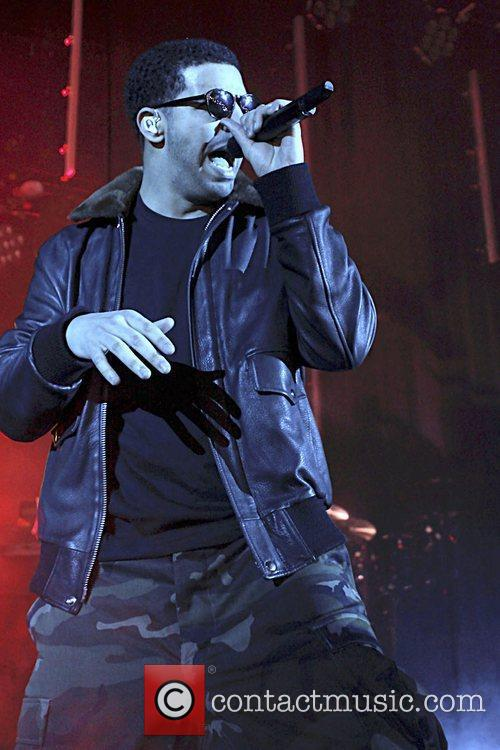 Canadian rapper, Drake, performing at Hammersmith Apollo London,...