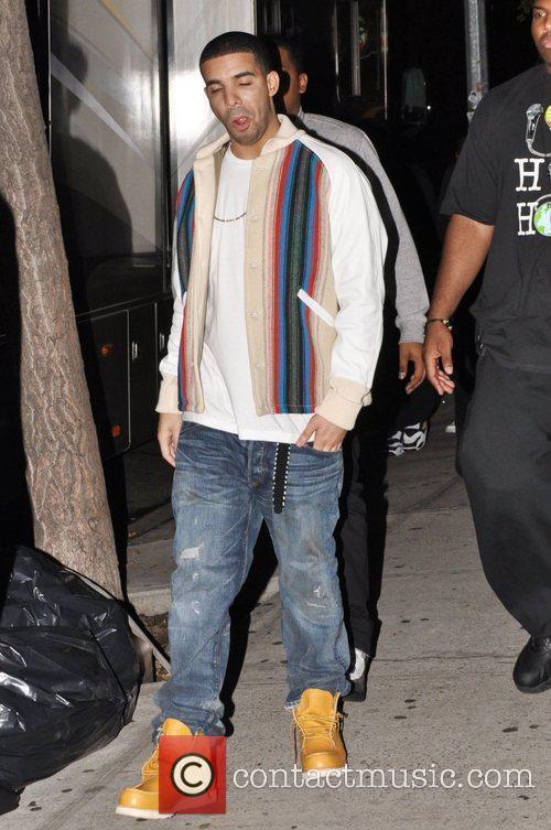 Rapper Drake aka Aubrey Graham is seen on...