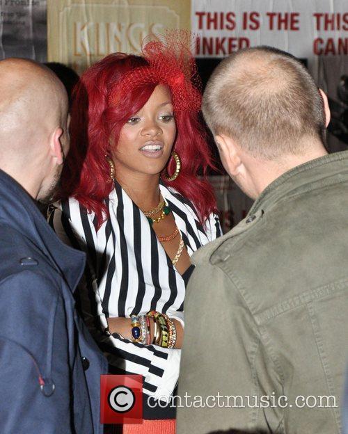 Rihanna Rihanna is seen on the set of...