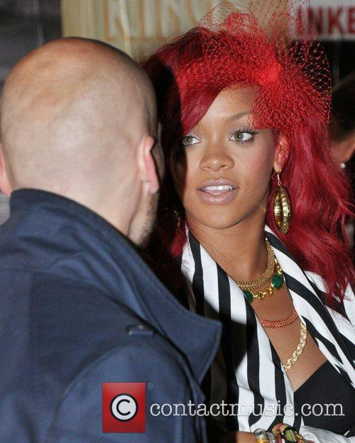Rihanna is seen on the set of Drake's...
