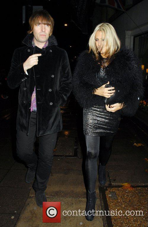Liam Gallagher and Nicole Appleton Drapers Awards 2010...