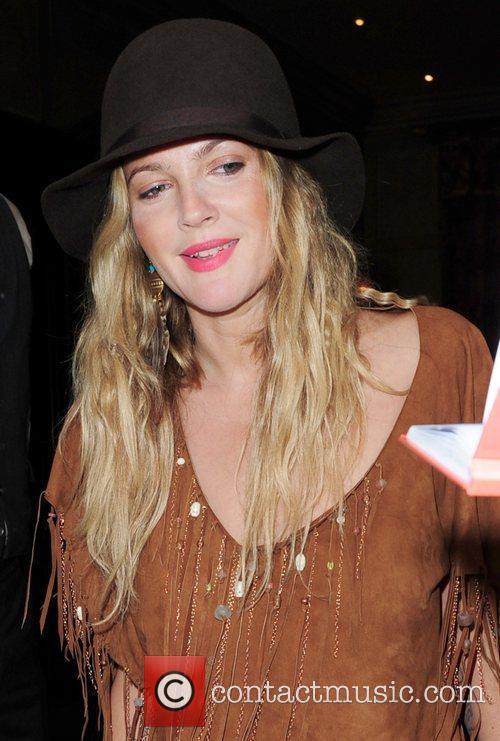 Drew Barrymore leaving her London hotel London, England