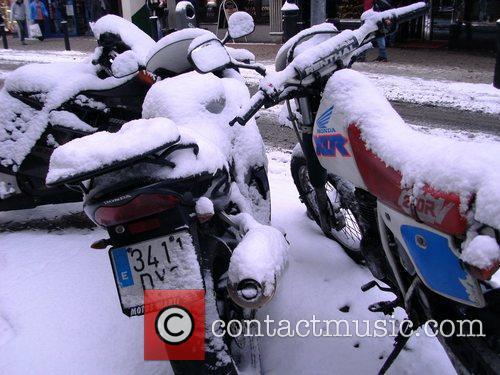 Dublin city centre in the snow.  Dublin,...