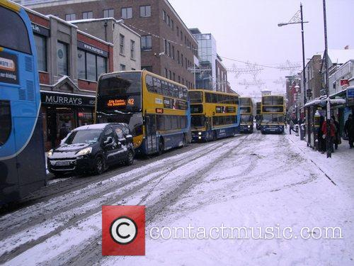 Dublin city centre in the snow.  Dublin,...