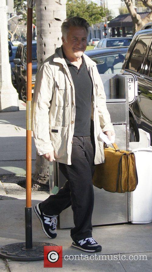 Dustin Hoffman leaves Katsuya after having lunch Los...