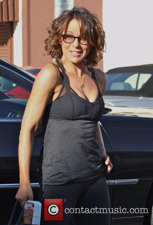 Jennifer Grey Celebrities at the dance-rehearsal studio for...