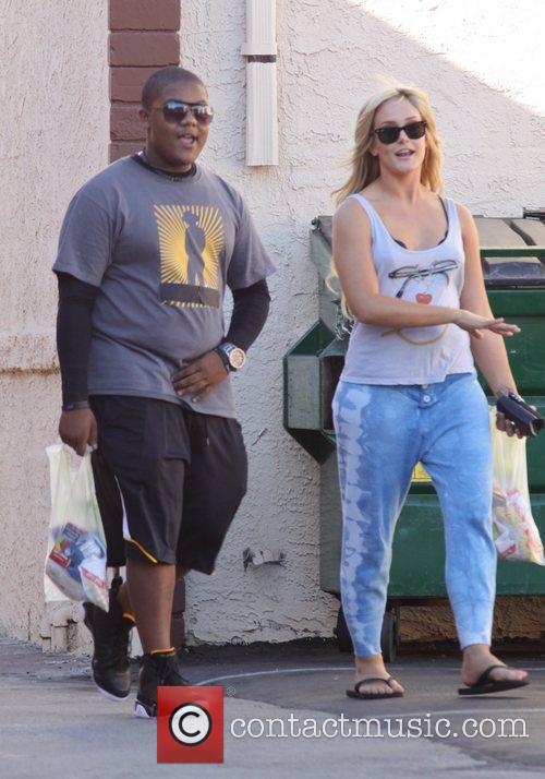 Kyle Massey and Lacey Schwimmer Celebrities at the...