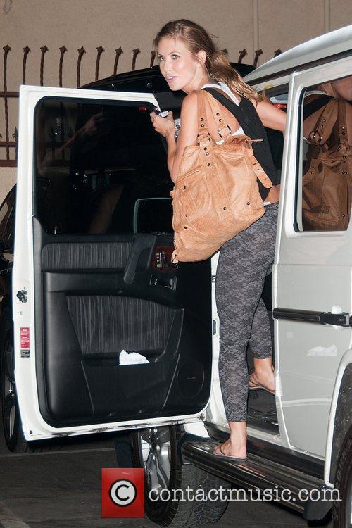 Audrina Patridge leaving a dance studio after rehearsing...