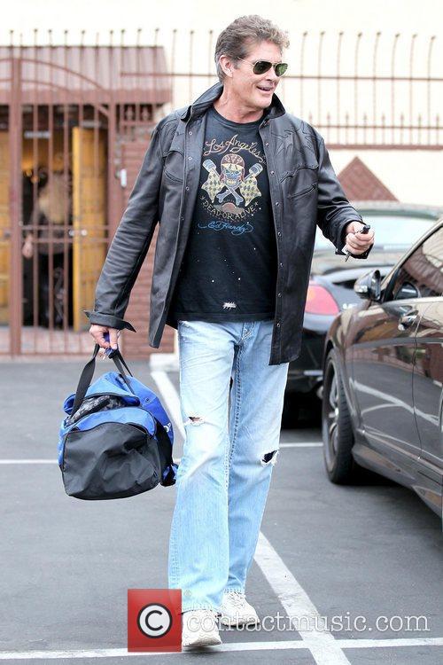 David Hasselhoff Celebrities outside a dance studio for...