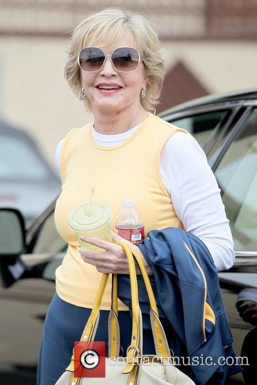 Florence Henderson Celebrities outside a dance studio for...