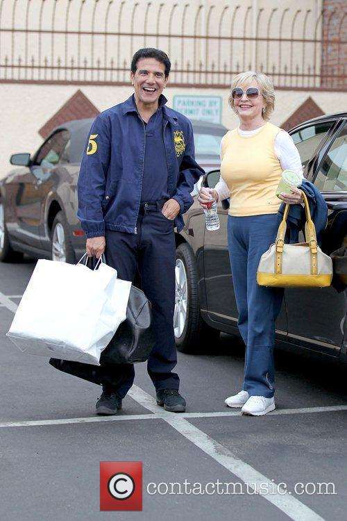 Dancer Corky Ballas and Florence Henderson Celebrities outside...