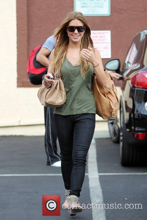 Audrina Patridge outside a dance studio after leaving...