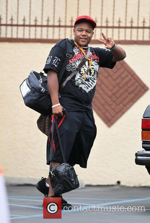 Kyle Massey Celebrities outside a dance studio for...