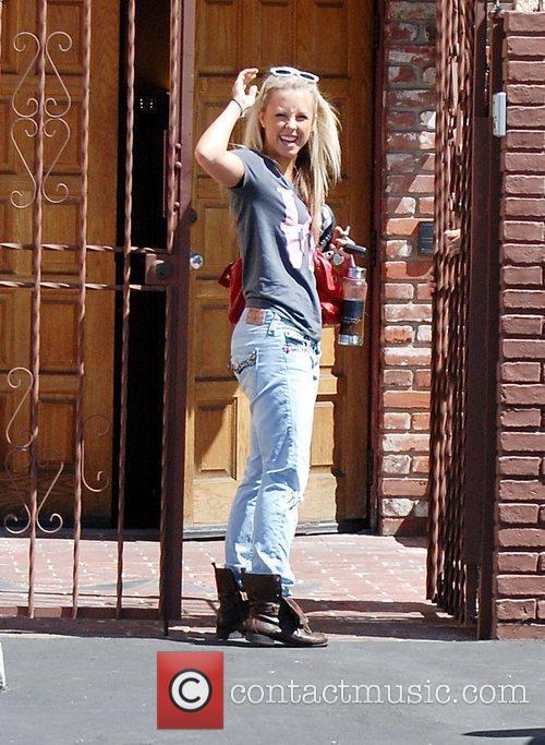 Chelsie Hightower arrives at the rehearsal studio for...