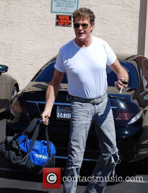 David Hasselhoff arrives at the rehearsal studio for...