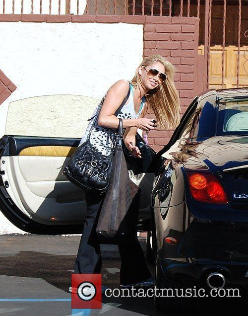 Kym Johnson arrives at the rehearsal studio for...