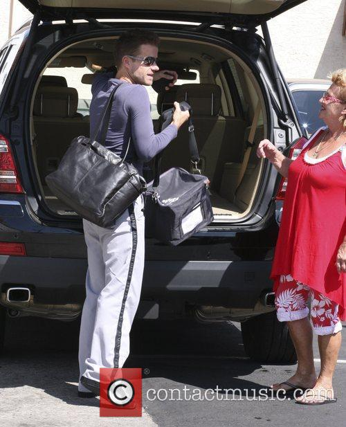 Celebrities outside the 'Dancing With The Stars' rehearsal...