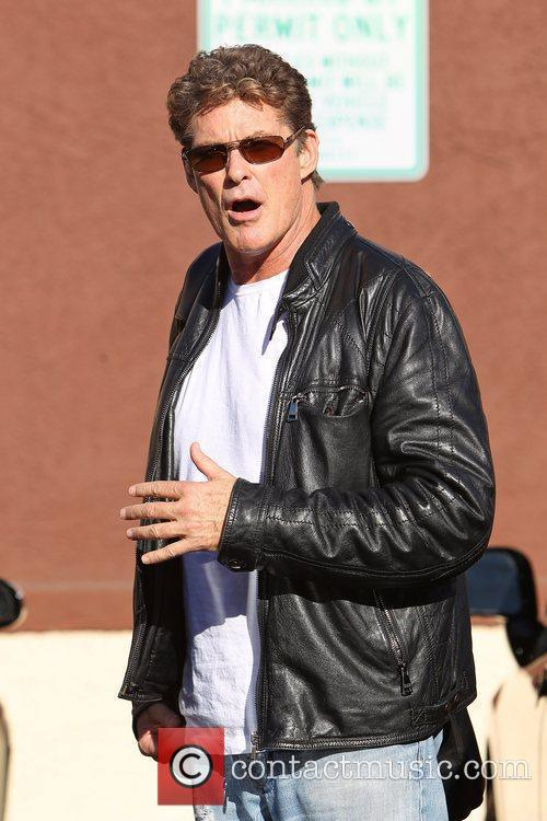 David Hasselhoff Celebrities outside a dance studio for...