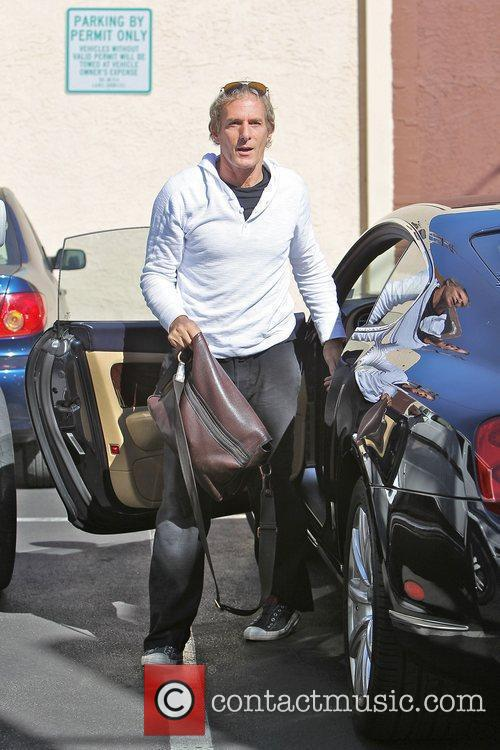 Michael Bolton Celebrities outside a dance studio for...