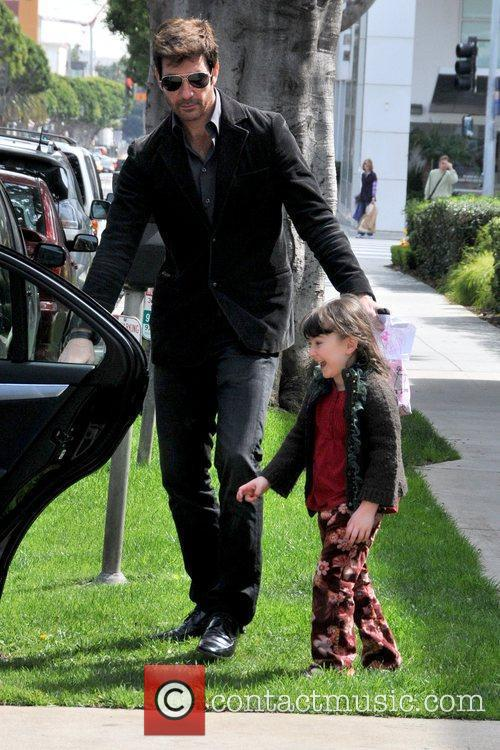 Dylan McDermott picks up his daughter from school...