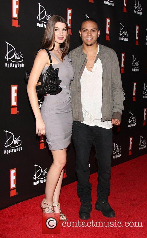 Evan Ross (R) and guest E! Oscar Viewing...