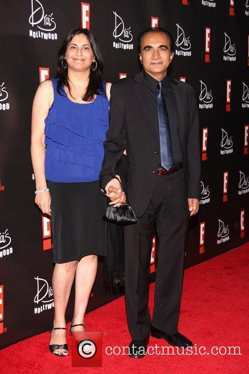 Iqbal Theba (R) and guest E! Oscar Viewing...