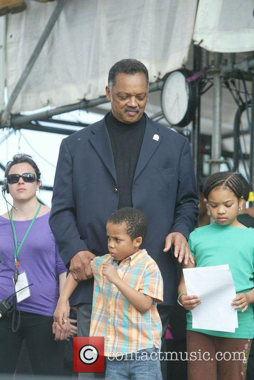 Jesse Jackson with his grandchildren The Climate Rally...