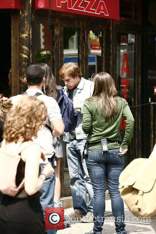 Michael C. Hall on the film set for...