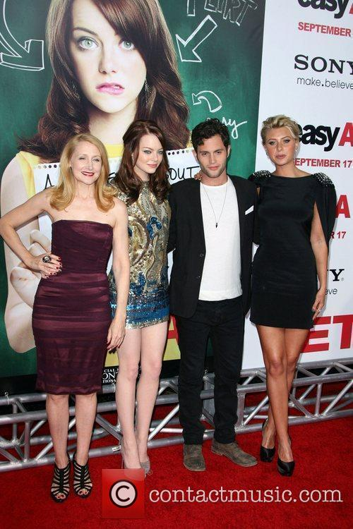 Patricia Clarkson, Aly Michalka, Emma Stone and Penn Badgley 6