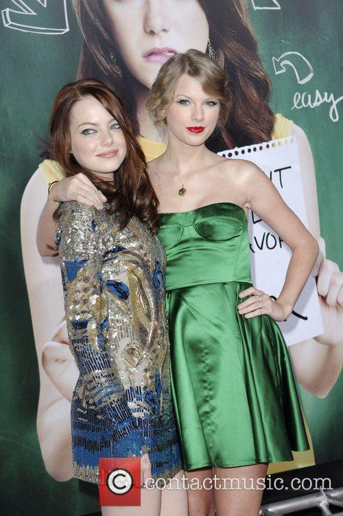 Emma Stone, Taylor Swift, Grauman's Chinese Theatre