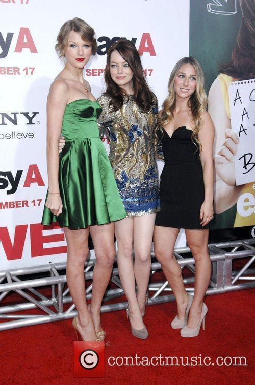 Taylor Swift, Emma Stone and guest Los Angeles...