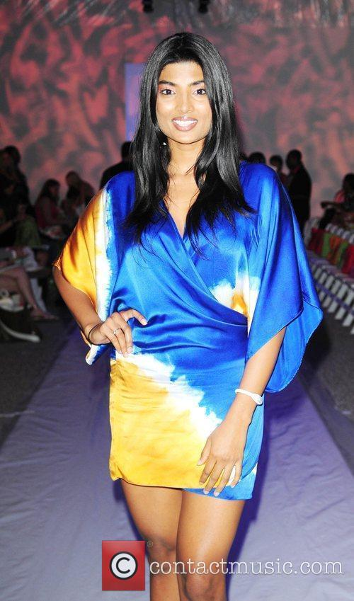 Anchal Joseph backstage at Ed Hardy fashion show...