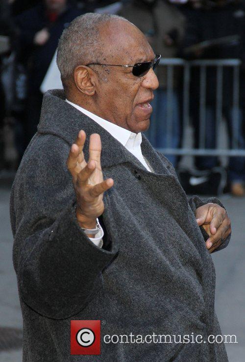 Bill Cosby Celebrities outside The Ed Sullivan Theater...