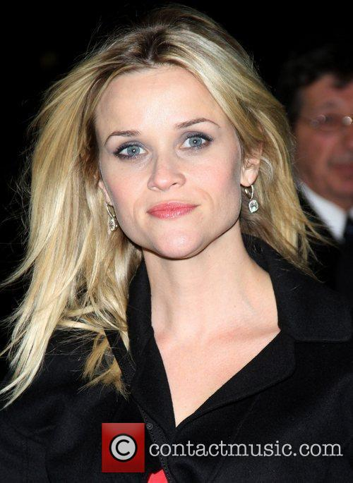 Reese Witherspoon celebrities outside The Ed Sullivan Theater...
