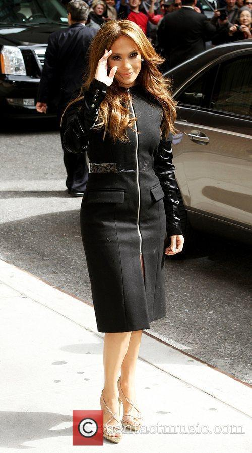 Jennifer Lopez and David Letterman 8