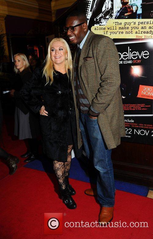 Vanessa Feltz and Ben Ofoedu at Eddie Izzard's...