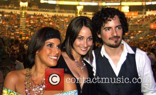 Karla Monroig and Alexandra Malagon with Tommy Torres...
