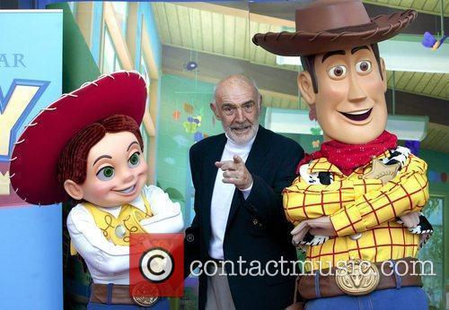 Sir Sean Connery with Characters Woody and Jessie...