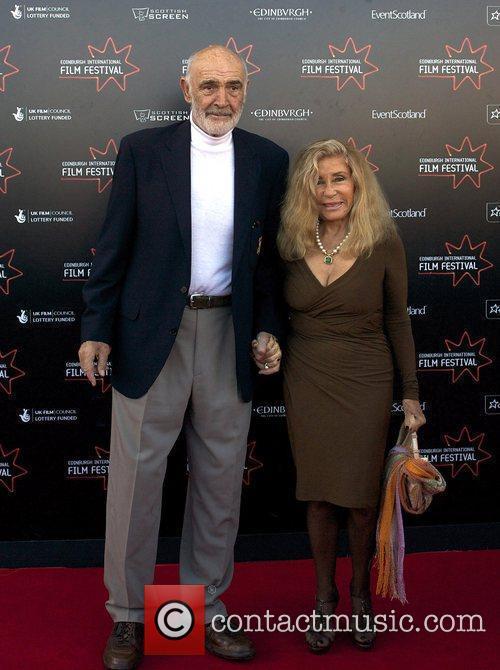 Sir Sean Connery with his wife Micheline Edinburgh...