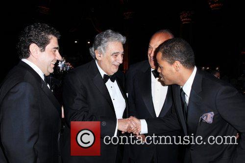 Placido Domingo, Oscar de la Renta and Moises...