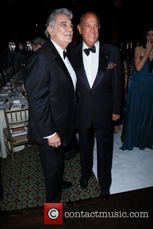 Placido Domingo and Oscar de la Renta 7