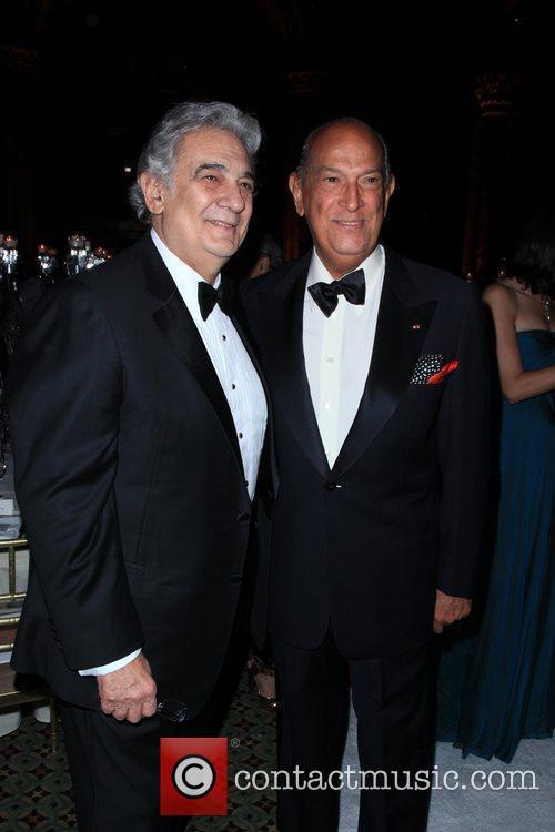 Placido Domingo and Oscar De La Renta 4